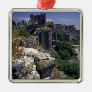 Syria, Marqab Castle, Crusaders castle located Silver-Colored Square Decoration