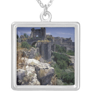 Syria, Marqab Castle, Crusaders castle located Silver Plated Necklace