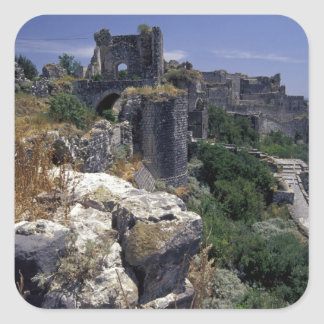 Syria, Marqab Castle, Crusaders castle located Square Sticker