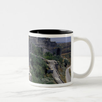 Syria, Marqab Castle, Crusaders castle located Two-Tone Coffee Mug