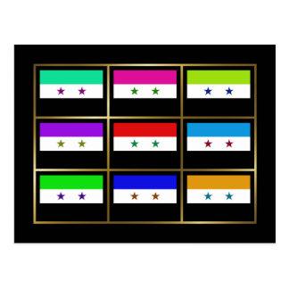 Syria Multihue Flags Postcard