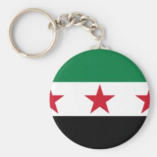 syria opposition basic round button key ring