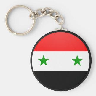 Syria quality Flag Circle Basic Round Button Key Ring