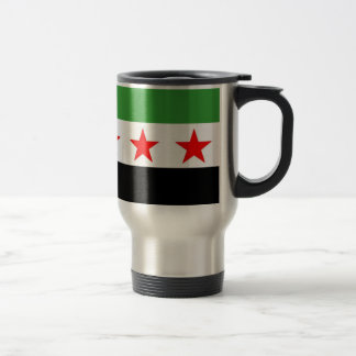 Syria Republic Flag Travel Mug