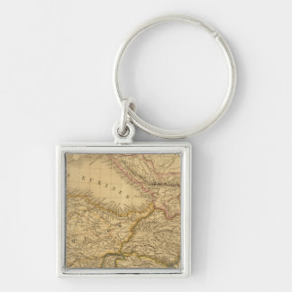 Syria Silver-Colored Square Key Ring