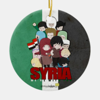 SYRIA - We're With You Christmas Ornament