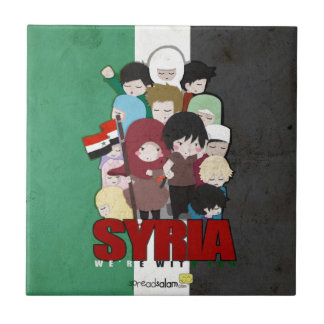 SYRIA - We're With You Small Square Tile