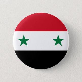 Syrian Arab Republic Flag - Flag of Syria 6 Cm Round Badge