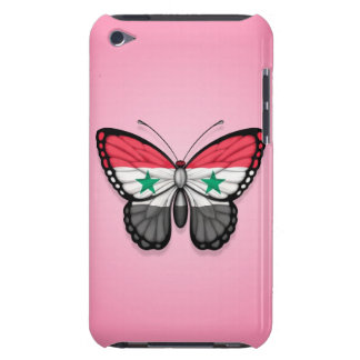 Syrian Butterfly Flag on Pink Barely There iPod Cases