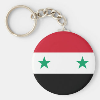Syrian Flag Basic Round Button Key Ring