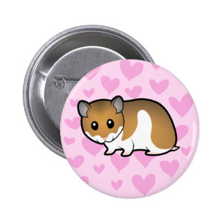 Syrian Hamster Love 6 Cm Round Badge