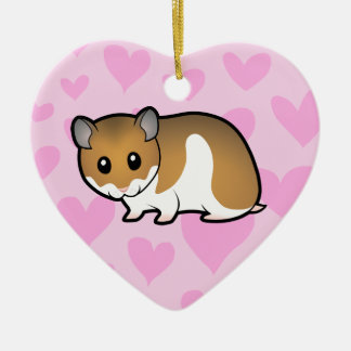 Syrian Hamster Love Christmas Ornament