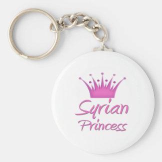 Syrian Princess Basic Round Button Key Ring