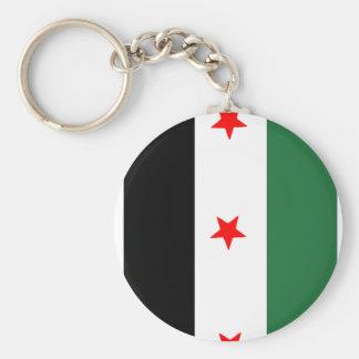 Syrian Revolutionary Flag Basic Round Button Key Ring