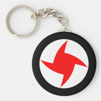 Syrian Social Nationalist Party, Syria flag Basic Round Button Key Ring