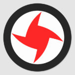 Syrian Social Nationalist Party, Syria flag Round Stickers