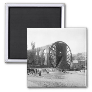 Syrian Water Wheel, early 1900s Square Magnet