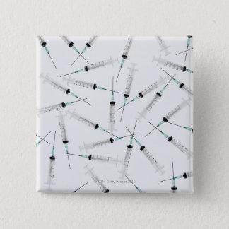 Syringes 2 15 cm square badge