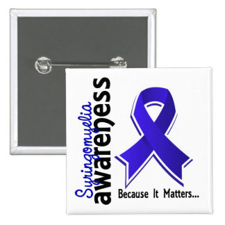 Syringomyelia Awareness 5 15 Cm Square Badge