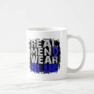 Syringomyelia Real Men Wear Blue Basic White Mug