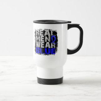 Syringomyelia Real Men Wear Blue Stainless Steel Travel Mug