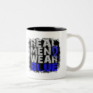 Syringomyelia Real Men Wear Blue Two-Tone Mug