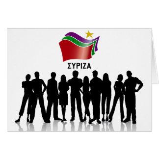 SYRIZA GREETING CARD