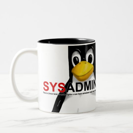 SYSADMIN Two-Tone COFFEE MUG