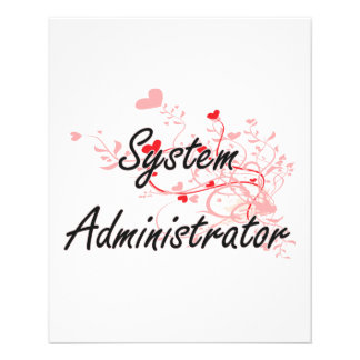 System Administrator Artistic Job Design with Hear 11.5 Cm X 14 Cm Flyer