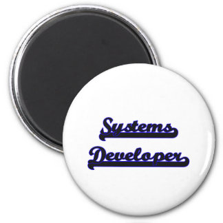 Systems Developer Classic Job Design 6 Cm Round Magnet