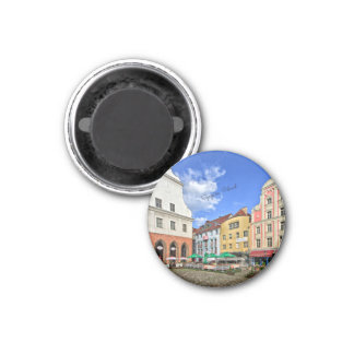 Szczecin, Poland cityscape 3 Cm Round Magnet