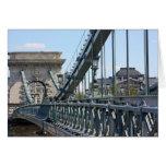 Szechenyi Chain Bridge, Budapest, Hungary Greeting Cards