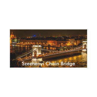 Szechenyi Chain Bridge In Budapest Canvas Print