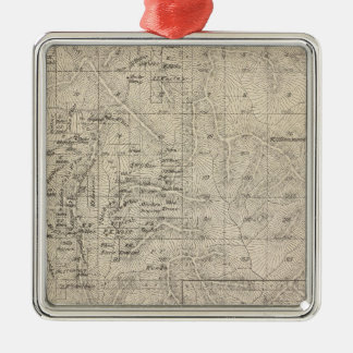 T1415S R2829E Tulare County Section Map Christmas Ornament