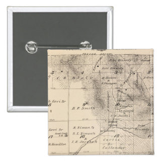 T15S R25E Tulare County Section Map 15 Cm Square Badge