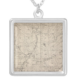 T1617S R2829E Tulare County Section Map Silver Plated Necklace