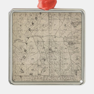T1617S R3031E Tulare County Section Map Christmas Ornament