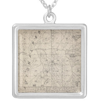 T1617S R3031E Tulare County Section Map Silver Plated Necklace