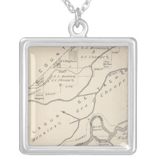 T17S R22E Tulare County Section Map Silver Plated Necklace