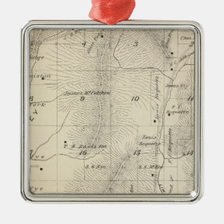 T17S R27E Tulare County Section Map Christmas Ornament