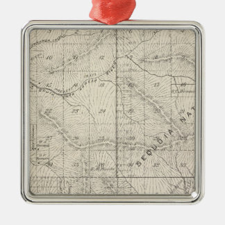 T1819S R2930E Tulare County Section Map Christmas Ornament