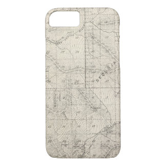 T1819S R2930E Tulare County Section Map iPhone 8/7 Case