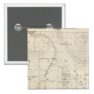 T18S R28E Tulare County Section Map 15 Cm Square Badge