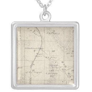 T18S R28E Tulare County Section Map Silver Plated Necklace