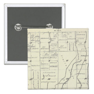 T19S R22E Tulare County Section Map 15 Cm Square Badge