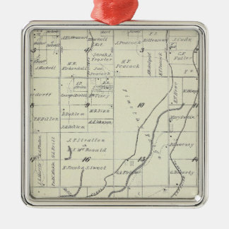 T19S R22E Tulare County Section Map Christmas Ornament