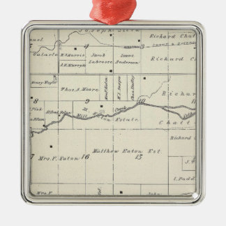 T19S R23E Tulare County Section Map Christmas Ornament