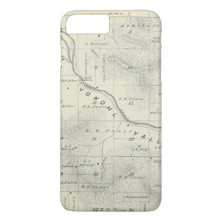 T19S R27E Tulare County Section Map iPhone 8 Plus/7 Plus Case