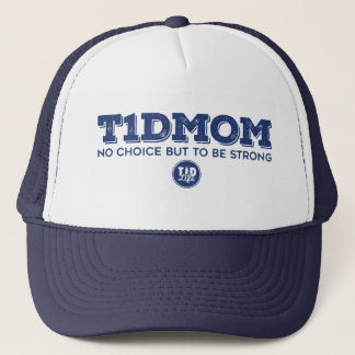 """T1dMom Strong"" (Navy) Trucker Hat"