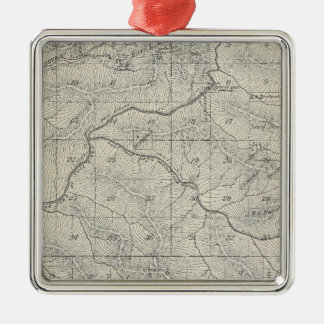 T2021S R3031E Tulare County Section Map Christmas Ornament